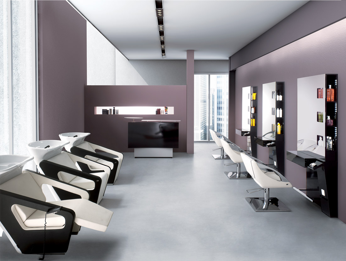 Arredamento per parrucchieri bergamo evernet srl for Mobili x salone